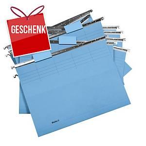 Hängemappe Biella Original 271255 25 cm tief, blau, Packung à 25 Stück