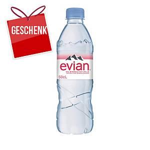 Evian Mineralwasser ohne Kohlensäure, Packung à 6x50 cl