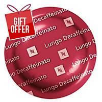 Nespresso Lungo Decaffeinato - Box Of 50 Coffee Capsules