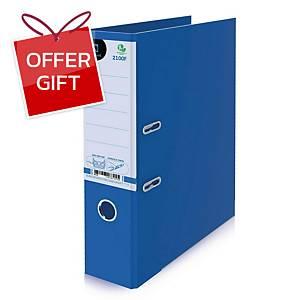 ELEPHANT 2100F Lever Arch File Cardboard F 3   Blue