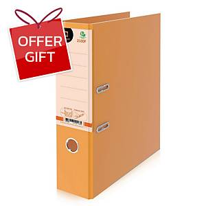 ELEPHANT 2100F Lever Arch File Cardboard F 3   Orange