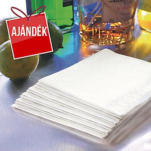 Duni papírszalvéta fehér, 24 x 24 cm, 2-rétegű, 300 darab/csomag