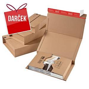 Expedičná krabica ColomPac®, 325 x 250 x 80 mm, hnedá