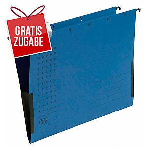 Hängetasche Elba chic 85743, A4, mit Leinenfröschen, blau