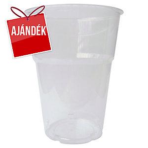 Duni műanyag átlátszó pohár 250 ml, 50 darab/csomag