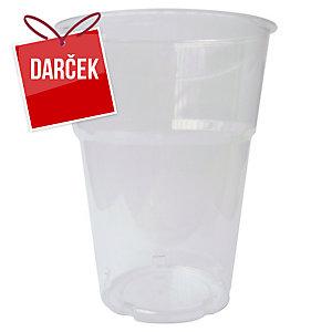 Plastové poháre Duni priehľadné 250 ml, balenie 50 kusov