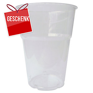 Einweg-Becher Duni Trend, 250 ml, Plastik, transparent, 50 Stück