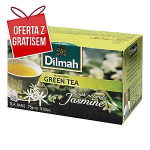 Herbata zielona DILMAH Jaśminowa, 50 torebek