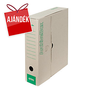Emba hordozható archiváló doboz, natúr, 33 x 26 x 7,5 cm, 25 darab/csomag