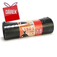 Pytle Alufix na odpad LDPE igelit, 150 l, černé