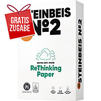 Kopierpapier Recycling Steinbeis Trend White, A4, 80g, 80er-Weiße, 500 Blatt