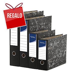 Archivador palanca cartón jaspeado lomo 75mm  formato folio  LYRECO