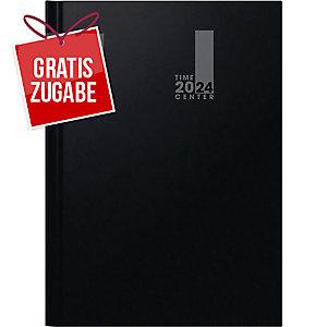 Buchkalender 2019 Brunnen 72940 Timecenter, 1 Woche / 2 Seiten, A4, schwarz