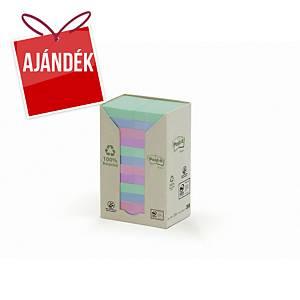 3M Post-it® 653 újrah. öntap. jegyzettömb, 51 x 38 mm, színes, 24 tömb/100 lap