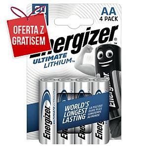 Baterie ENERGIZER® Ultimate Lithium LR6/AA, w opakowaniu 4 sztuki