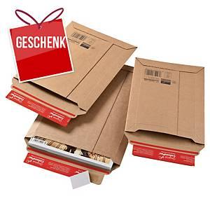 ColomPac® Versandtasche dehnbar, 340 x 500 x 50 mm, braun