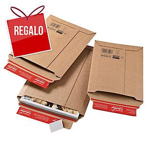 Bolsa de cartón extrarrígido para envíos 340 x 500 x 50 mm