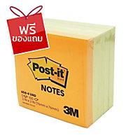 POST-IT กระดาษโน้ต 654-4VAD 3  x3   4 เหลือง+1สีสะท้อนแสง 100แผ่น/เล่ม 5เล่ม