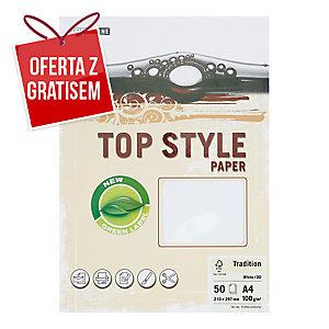 Papier ozdobny TOP STYLE Tradition ,kolor biały, 100 g/m?, 50 arkuszy