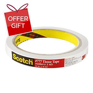 SCOTCH Double-Sided Tissue Tape 12mm X 10 Yards 3   Core