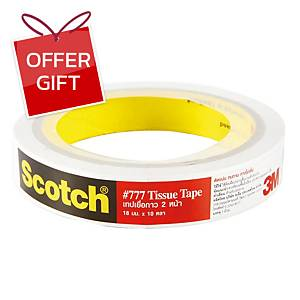 SCOTCH Double-Sided Tissue Tape 18mm X 10 Yards 3   Core