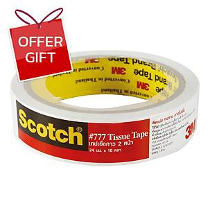 SCOTCH Double-Sided Tissue Tape 24mm X 10 Yards 3   Core