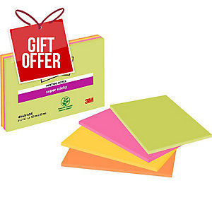 POST-IT SUPER STICKY MEETING NOTES 149 X 99MM - PACK OF 4