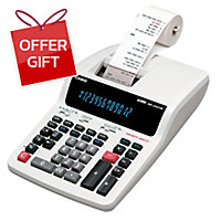 CASIO DR-210TM DESKTOP PRINTER CALCULATOR 12 DIGITS