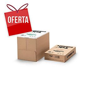 Caixa 5 pacotes 500 folhas papel STEINBEIS ClassicWhite A4 80g/m2 reciclado