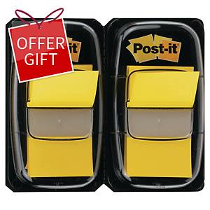 Post-it 680-YW2 Index Yellow 1 inch x 1.75 inch