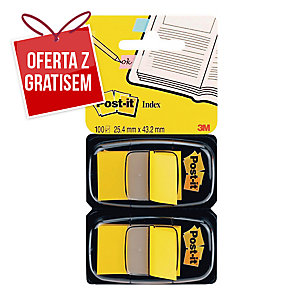 Zakładki indeksujące POST-IT® żółte w opakowaniu 100 zakładek