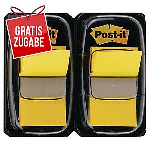 Index-Spender 3M Post-it 680, mit 50 Haftstreifen, 43,2x25,4mm, gelb, 2 Stück
