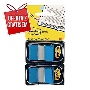 Zakładki indeksujące POST-IT®  niebieskie, w opakowaniu 100 zakładek