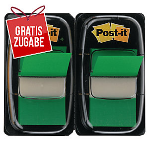 Index-Spender 3M Post-it 680, mit 50 Haftstreifen, 43,2x25,4mm, grün, 2 Stück