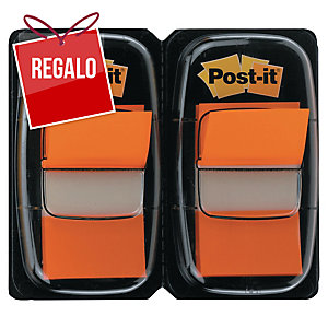 Pack 2 dispensadores Post-it index 1   color naranja, 50 marcadores por dispens