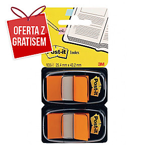 Zakładki indeksujące POST-IT® pomarańczowe, w opakowaniu 100 zakładek