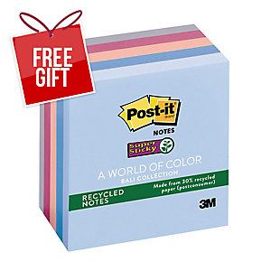 POST-IT® SUPER STICKY NOTES BALI COLLECTION PACK OF 5