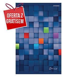Zeszyt TOP-2000 Office, A5, kratka, 80 kartek, margines*