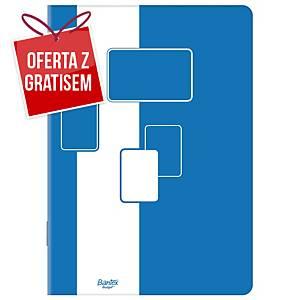 Brulion BANTEX, A4, kratka, 96 kartek, twarda okładka*