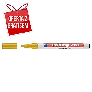Marker olejowy EDDING 751, okrągła końcówka żółty