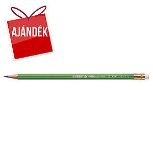 Stabilo FSC ceruza, radírral, HB, 12 db/csomag