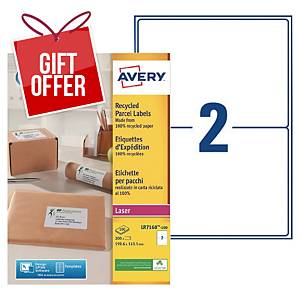 Avery LR7168 laser labels recycled 199,6x143,5mm - box of 200