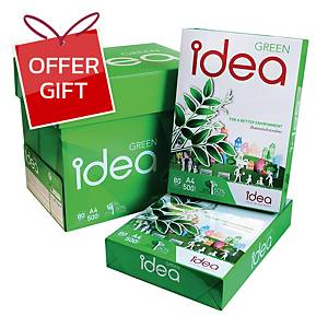 IDEA GREEN COPY PAPER A4 80G - WHITE - REAM OF 500 SHEETS