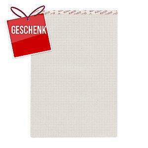Notizblock Elco 73311.27 A4, 65 g/m2, 4 mm kariert, 100% Recycling, 100 Blatt