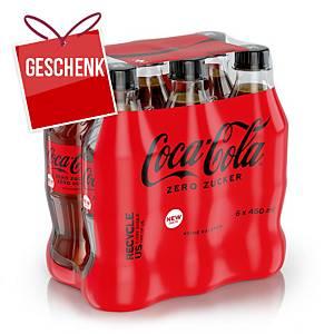 Coca-Cola Zero 45 cl, Packung à 6 Flaschen