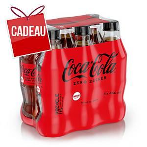 Coca Cola Zéro 45cl, paq. de 6bouteilles