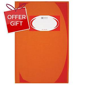 ELEPHANT HC-106 HARD COVER NOTEBOOK 210MM X 320MM 70G 100 SHEETS ORANGE