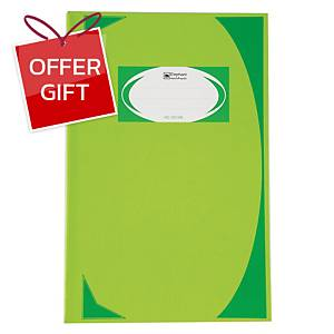 ELEPHANT HC-107 HARD COVER NOTEBOOK 210MM X 320MM 70G 100 SHEETS LIGHT GREEN