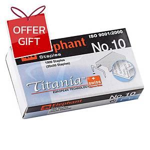 ELEPHANT TITANIA 10-1M STAPLES - BOX OF 1000