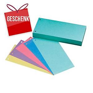 Classic 1/3 gelochte Trennstreifen 5-Farben-Mix